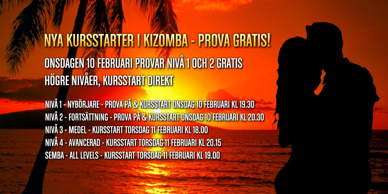 Nya kurser i Kizomba och Semba i Stockholm.